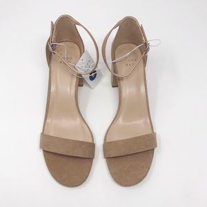 a new day Taupe Michaela Block Heel Pumps 9M